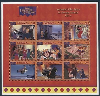 St Vincent Grenadines 1996 Hunchback of Notre Dame MS MNH