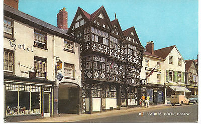 UK Postcard The Feathers Hotel, Ludlow