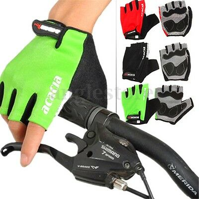 Motorcycle Cycling Mountain MTB Bike Bicycle Sports GEL Half Finger Glove XL US