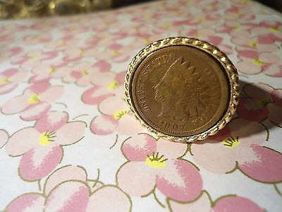 1 Goldplated Indian Head Penny Ring PLEASE SPECIFY SIZE 10-11 AND 12