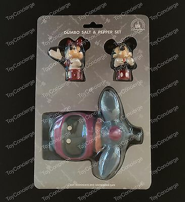 DISNEY Parks SALT and PEPPER Shaker Set DUMBO with MICKEY & MINNIE 3 Piece NEW
