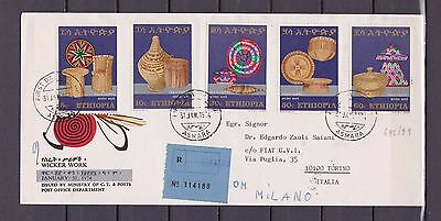 s15401) ETHIOPIA Registerd FDC 1974 Basket making 5v