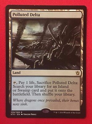 MTG - 1x - ONE - Polluted Delta - (EX) - Khans of Tarkir - Fetchland