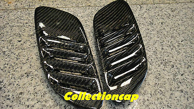 For BMW E92 E93 M3 2D REAL CARBON FIBER HOOD VENTS GIRILLES Taiwan SonicTrade