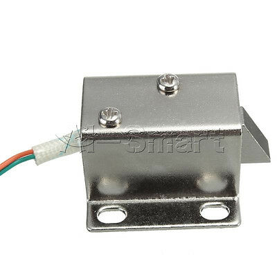 Door Drawer Tongue Down Electric Lock Assembly Solenoid DC 12V Slim Design Lock