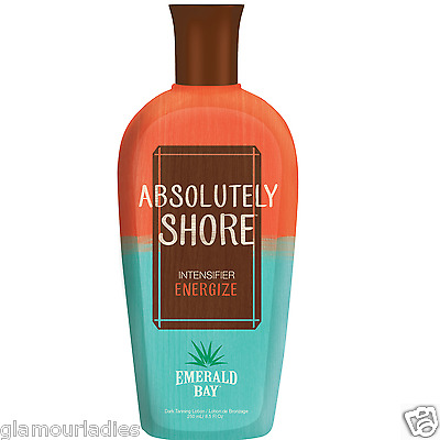 250ml Emerald Bay Absolutely Shore Sunbed Tanning Lotion Tan Accelerator