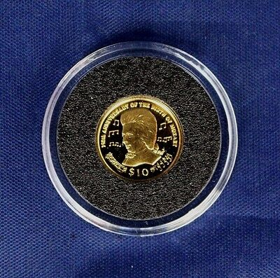 "2006 Virgin Is 1/25oz 0.999 Gold coin ""Mozart Anniversary"" in Capsule   (Z3/12)"