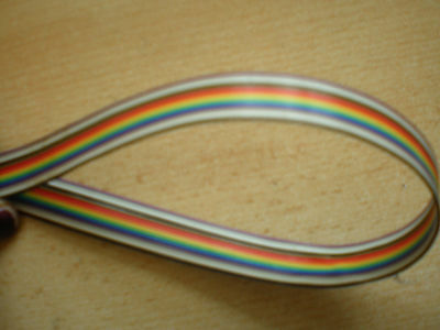 14 way Rainbow Ribbon Cable (multi colour) pitch 1.00mm  sold in 3 metres   HM33
