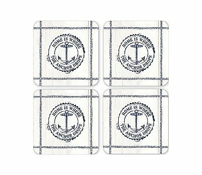 Cooksmart Coastal Home Pack of 4 Coasters