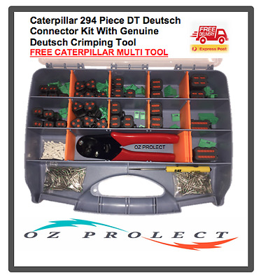 Caterpillar 294 pc DT Deutsch Connector Plug Kit With Crimping Tool Auto Marine