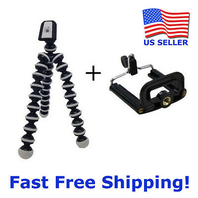 Mini Flexible Octopus Tripod + Bracket Holder Mount for Cell Phone Camera iPhone