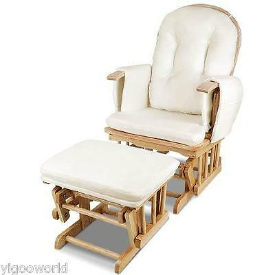 Baby  Relax Breast Feeding Sliding Glider Recliner Chair with Ottoman 4 color AU