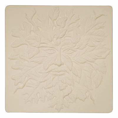 Small Greenman Texture Mold for Glass Fusing and Slumping 7 x 7 Inch