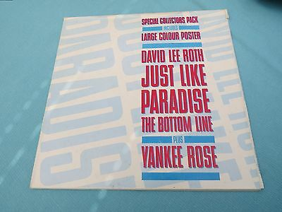 "David Lee Roth - Just Like Paradise. 1988 Vinyl 12"" With Poster In Envelope Slve"