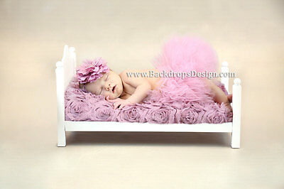 Newborn  bed photo prop baby photography log wood bed  vintage style