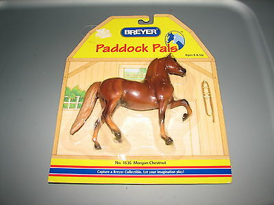 Breyer Paddock Pals Brown Morgan Chestnut Plastic Horse Figure No. 1636 MIP New
