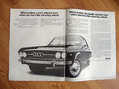 1970 Audi 100LS Ad What Makes the Wheels Turn when you Turn Steering Wheel