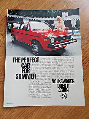 1981 VW Volkswagen Ad  The Rabbit Convertible