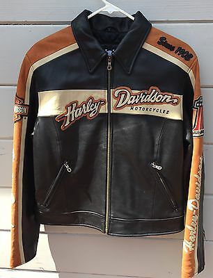 Harley Davidson Special Edition Spotlight Leather Jacket Womens Large