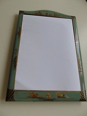 A Vintage Chinoiserie Lacquered Dressing Table Easel/Wall Mirror
