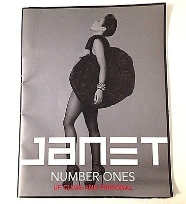 Janet Jackson 2011 Up Close And Personal, Number Ones Tour Concert Program Book