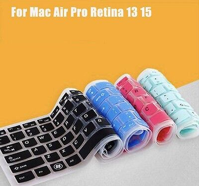 Silicone keyboard Cover For Apple MacBook Pro MAC 13 15 17 AIr 13 Black