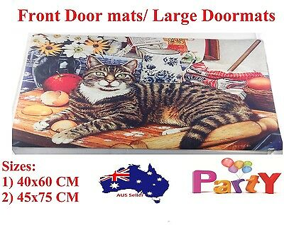 PET Pets Heavy Duty Coir Front Door Mats Large Doormats Outdoor Rugs Non Slip