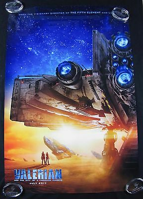 Valerian Adv Original Theater Movie Poster One Sheet DS 27x40