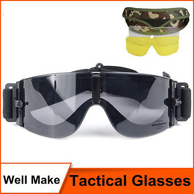 Military Style Airsoft Tactical Goggles Motorcycle Sunglasses Paintball Sport