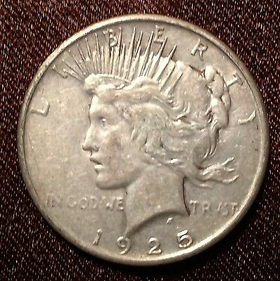 1925-? PEACE LIBERTY SILVER ONE DOLLAR COIN estate item free S&I
