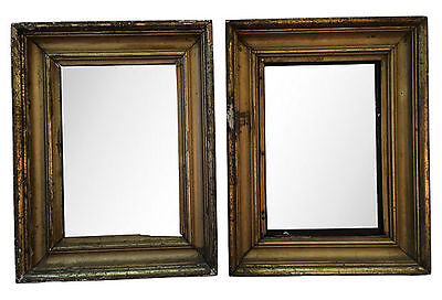 19th Century French Carved and Gilt Rectangular Mirrors, Pair