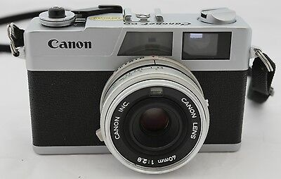 Canon Canonet 28 Rangefinder 35mm film camera with 40mm 1:2.8