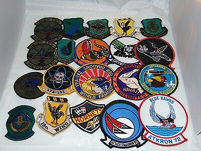 Lot of Vintage Uniform Military Patches ARMY NAVY AIRFORCE MARINES LOT #2