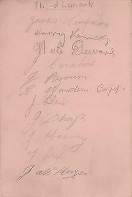 VERY RARE EARLY 1930s THIRD LANARK AC SIGNED ALBUM PAGE X 11