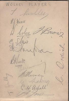 Wolves Fc 1936-37 Autograph Album Pages-Over 20 Signatures Inc. Galley & Waring