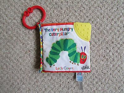 THE VERY HUNGRY CATERPILLAR LET'S COUNT SOFT BOOK  - TEETHER Eric Carle
