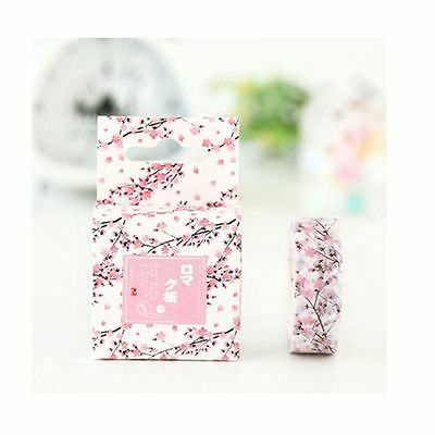 15MM*7M Decor Masking Sticker Washi Tape Scrapbooking Label Romantic Sakura
