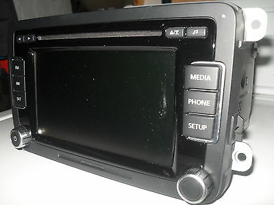Volkswagen VW RCD-510 Touch Screen Radio MP3 6 Disc Player OEM 1K0035180AF