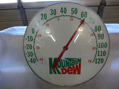 Nice Mountain Dew Soda Thermometer 18 Inch