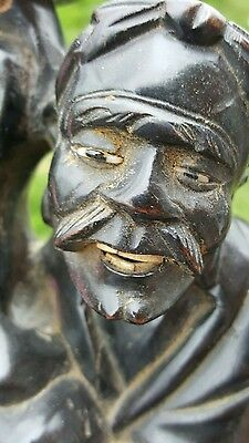 antique carved wooden figure