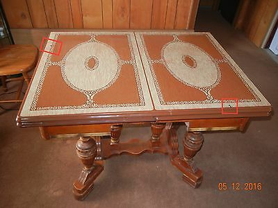 VINTAGE Enamel Top Dining Table  EXPANDABLE 1938 (ORIGINAL)