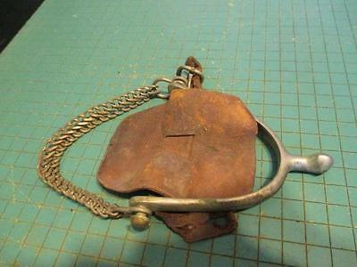 Vintage WWI US Cavalry Star Steel Silver Officer's Spur w/Chain Made New England