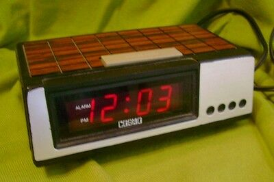 Vintage 70's Electric Cosmo LED Red Digital Alarm Clock