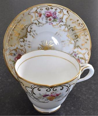 "Ridgway ""Entwined Handle"" hand-painted cup & saucer, patt. 2/9794 c.1849 (B110)"
