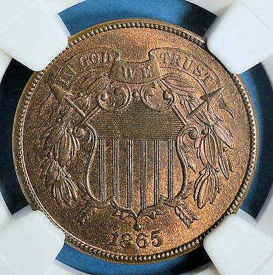 1865 Two Cent NGC MS64RB- Nice Sufaces, Eye Appeal
