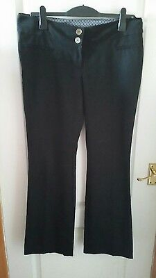 New Look Size 12 Black Maternity Dress Trousers