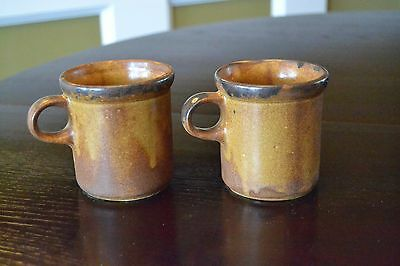 Pair of McCoy Canyon Mesa Coffee Cups Mugs 1412 Pottery Made in USA