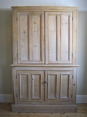 Large Victorian pine housekeepers cupboard larder dresser freestanding kitchen