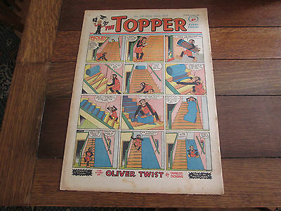 The TOPPER comic no. 251, November 23rd 1957 - Good Condition. Oliver Twist