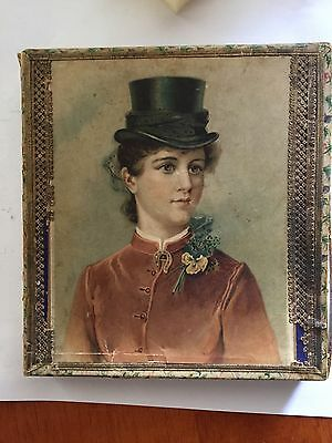 1880's Ladies Victorian Era Handkerchief Advertising Box Women's General Store